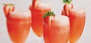 White Strawberry Bellini