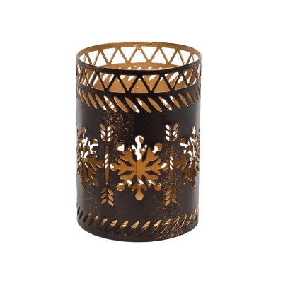 WoodWick - Bronze Snowflake Petite Candle Holder