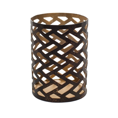 WoodWick - Herringbone Petite Candle Holder