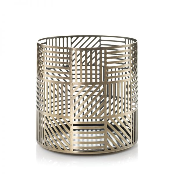 Crosshatch Brass Jar Holder - 25% reduziert