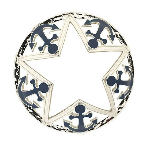 Illuma Lid Into Port Chrome Anchor & Star