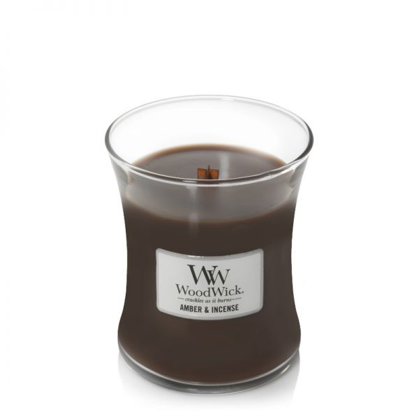 WoodWick Amber & Incense medium Jar