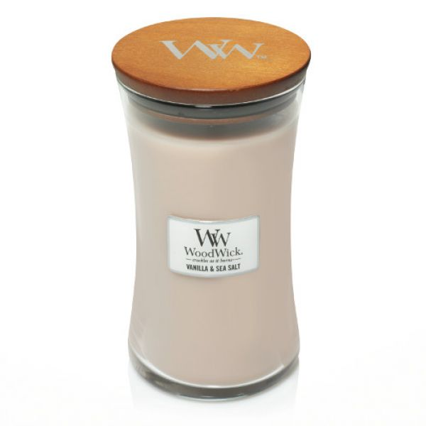 WoodWick Vanilla & Sea Salt large Jar