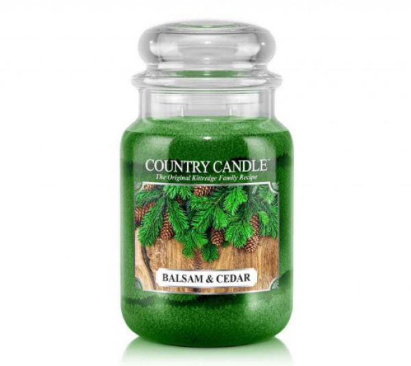 Country Candle Balsam & Cedar Jar gross