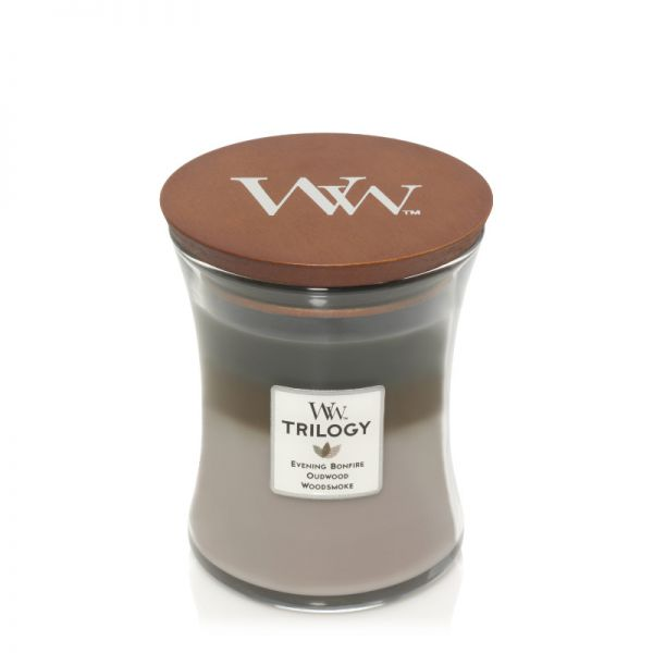 WoodWick Trilogy - Cozy Cabin medium Jar