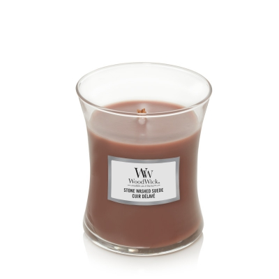 WoodWick Stone Washed Suede medium Jar