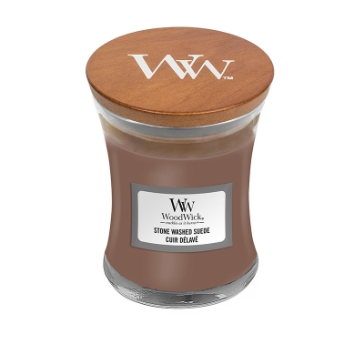 WoodWick Stone Washed Suede Mini Jar