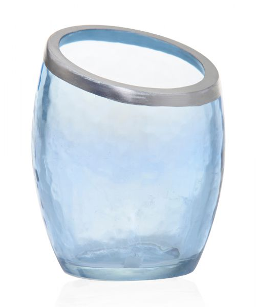 Pearlescent Crackle Votiv Holder blue - 50% reduziert!