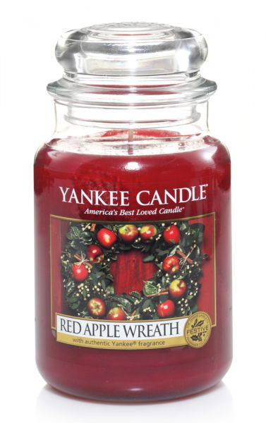 Red Apple Wreath Jar gross
