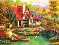 5D Diamond Painting Bild Country Home