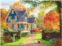 5D Diamond Painting Bild Herbst Country Home