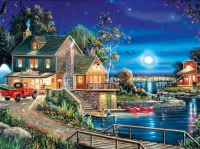 5D Diamond Painting Bild Lodge